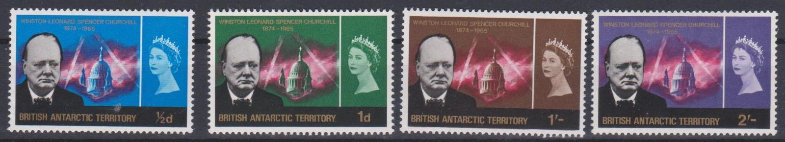 Britská Antarktída 1966, serie W.S.Churchill, svěží