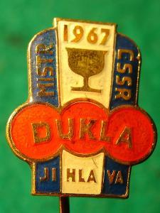 odznak/ DUKLA JIHLAVA-MISTR ČSSR 1967 /18