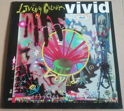 LP LIVING COLOUR-VIVID /NM, TOP STAV, BONTON 1991, PŘÍLOHA