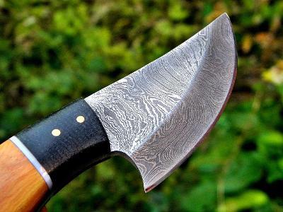 268/ Damaškový lovecký nůž. Rucni vyroba.