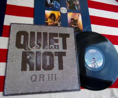 💥 LP: QUIET RIOT - QR III., jako nová NM!, 1st pressing Holland 1986
