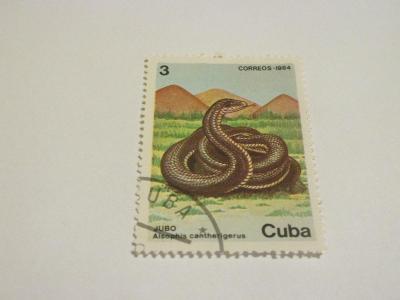 Prodávám známky Kuba 1984, Chráněná zvířata - Hadi