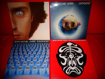 4x JEAN-M. JARRE -  In China, Equinoxe , Oxygene, Les Chains NM TOP!!!