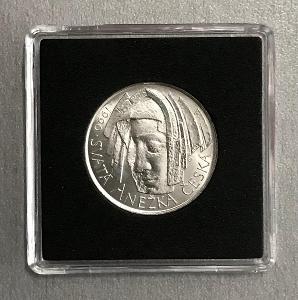 🌶Stříbrná mince 50 Koruna 1990-Svatá Anežka Česká, Ag, perfektní stav