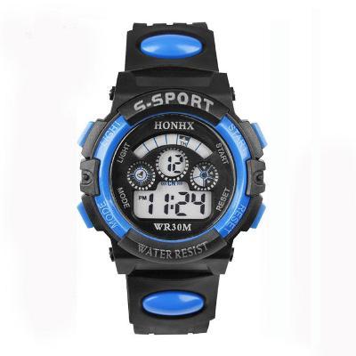 Nové pánské multifunkční sportovní LED digitální vodotěsné hodinky