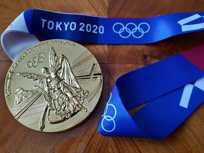 Zlatá olympijská medaile Tokyo 2020