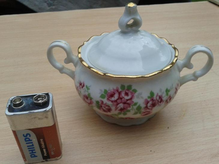 Starý porcelán - cukřenka zlacená - viz foto / 881 - Porcelán