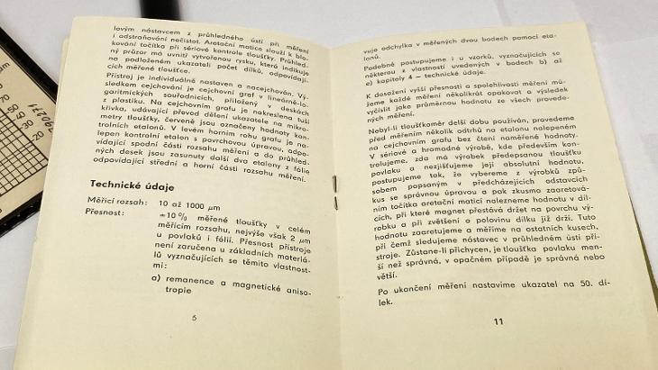 Starý magnetický tloušťkoměr METRA Praha n.p. - Elektronika