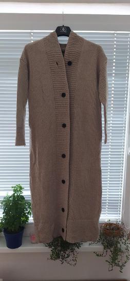 Svetr dámský dlouhý s kapucí - Dámské oblečení