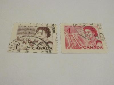 Prodávám známky Kanada 1967, Královna a místní motivy