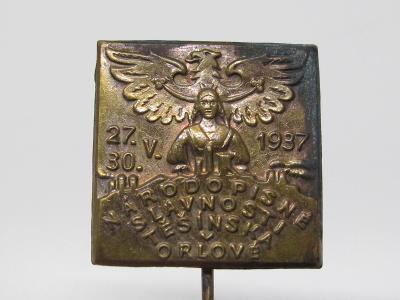 Starý odznak - NÁRODOPISNÉ SLAVNOSTI v ORLOVÉ - 1937