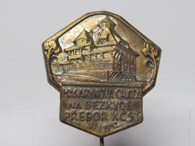 Starý odznak - MASARYKOVA CHATA NA BEZKYDĚ - 1932