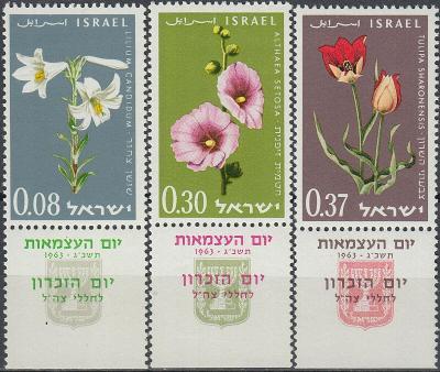 Izrael 1963 Známky Mi 283-285 ** květiny
