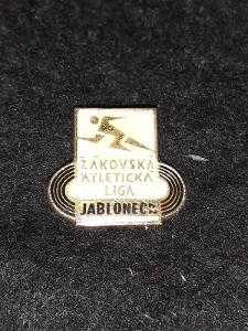 Odznak ŽÁKOVSKÁ ATLETICKÁ LIGA  - bílá varianta