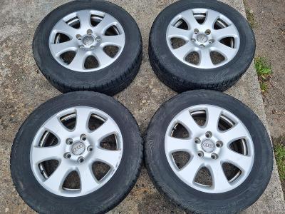 """4KS ALU DISKY Audi 18"""" 5x130 et53 + zimní pneu 235/60 r18"""