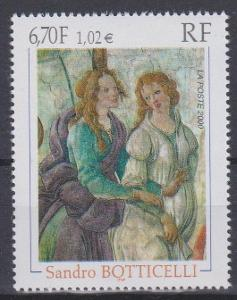 Francie 2000, známka umenie -Botticelli, svěží