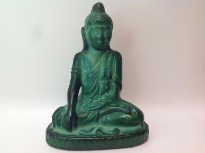 Budha malachitové sklo