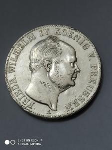 Mince TOLAR Friedrich Wilhelm VI Bergbautaler 1853A. VZACNÝ!! RR!