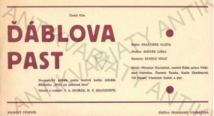 Ďáblova past film plakát A4 Vláčil Liška Macháček - Antikvariát