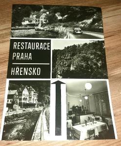 Hřensko - Restaurace Praha - stará historická pohlednice