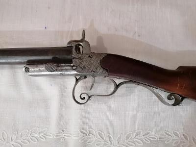 St. puška - brokovnice - jedno hlaveň - značená 19 st.