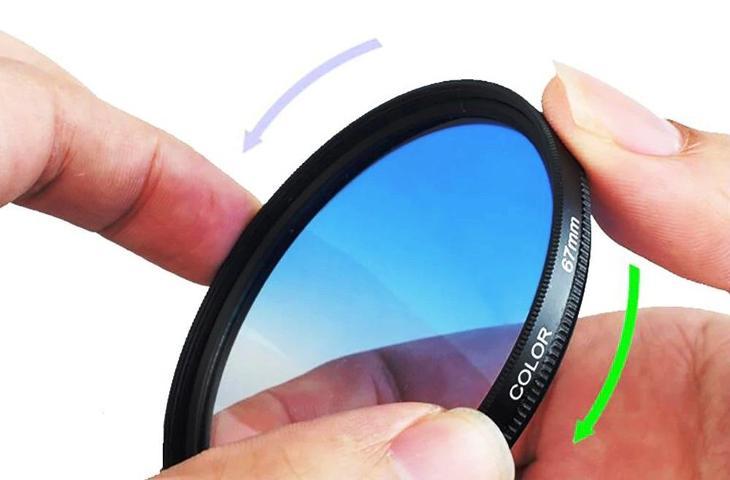 barevný přechodový gradient filtr 37mm - sada 9 ks + zdarma 2x pouzdro - Foto