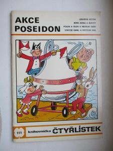 ČTYŘLÍSTEK DĚTSKÝ ČASOPIS KOMIKS  AKCE POSEIDON R. 1983 Č. 111