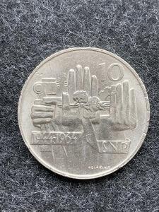 🌶 Stříbrná mince 10 Kčs SNP 20. výročí 1964