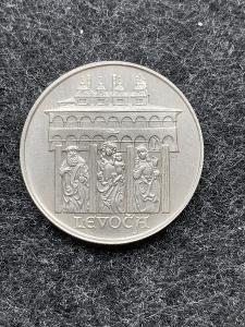 🌶 Stříbrná MINCE - 50 KČS - MĚSTO LEVOČA - 1986 - Perfektní Stav