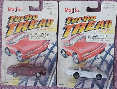2x Maisto Turbo Tread (Mercedes a Chevrolet)