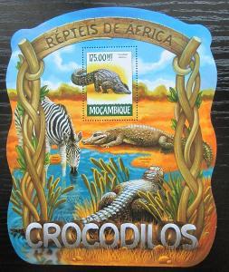 Mosambik 2015 Krokodýli Mi# Block 1016 Kat 10€ 2420