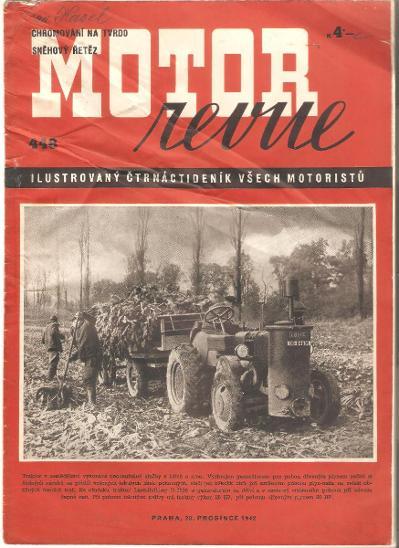 MOTOR REVUE č. 448 / 1942 Škoda Tatra Praga Aero Jawa ČZ - Motoristická literatura