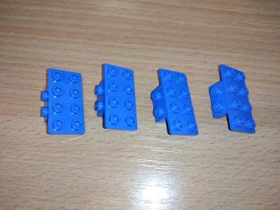 Lego díl 21731 - 4ks modrý držák