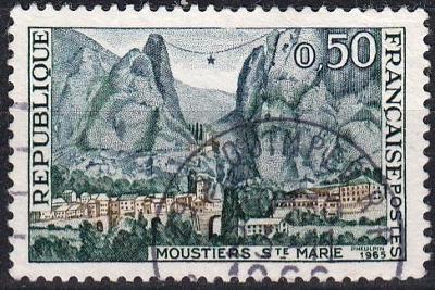 Francie 1965 Mi.1515 razítkovaná, prošla poštou