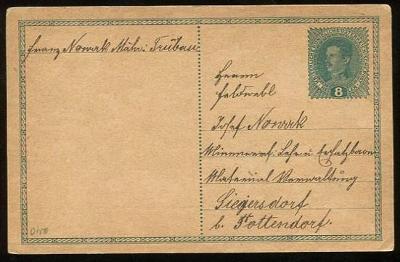 Dopisnice (lístek) - Rakousko - Uhersko