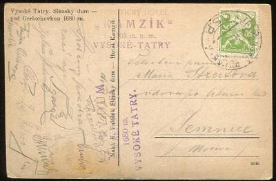 Dopisnice (pohlednice) - Vysoké Tatry