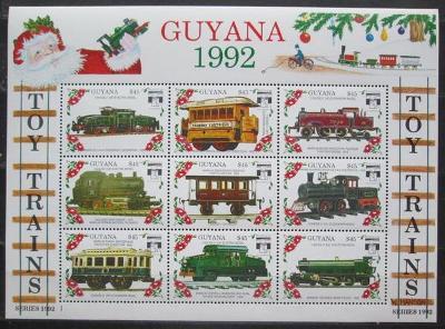 Guyana 1992 Modely lokomotiv a vagónů Mi# 3898-3906 2422
