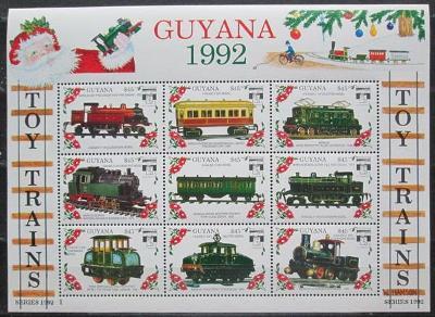 Guyana 1992 Modely lokomotiv a vagónů Mi# 3907-15 2422