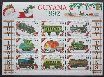 Guyana 1992 Modely lokomotiv a vagónů Mi# 3916-24 2422