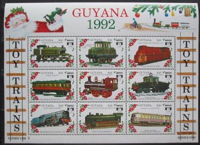 Guyana 1992 Modely lokomotiv a vagónů Mi# 3925-33 2423