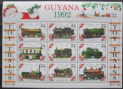 Guyana 1992 Modely lokomotiv a vagónů Mi# 3934-42 2423