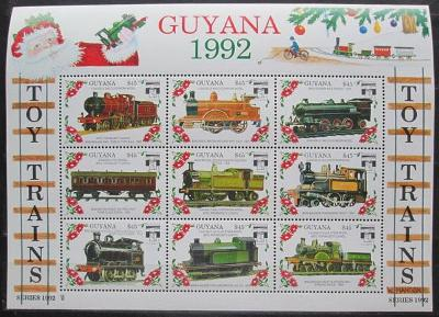 Guyana 1992 Modely lokomotiv a vagónů Mi# 3943-51 2423
