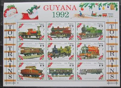 Guyana 1992 Modely lokomotiv a vagónů Mi# 3952-60 2423
