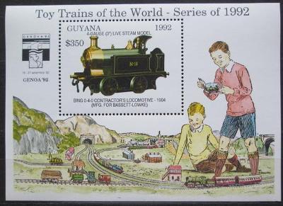 Guyana 1992 Modely lokomotiv a vagónů Mi# Block 210 Kat 9.50€  2423
