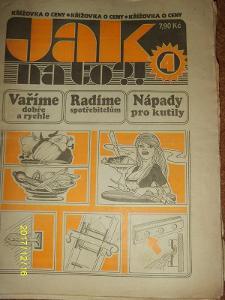 """STARÝ VÝTISK ,,JAK NA TO""""ročník 3 číslo 4 z roku 1994"""