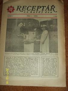 "STARÝ VÝTISK ,,RECEPTÁŘ NA KAŽDÝ DEN"" ročník 2 číslo 8 z roku 1991"