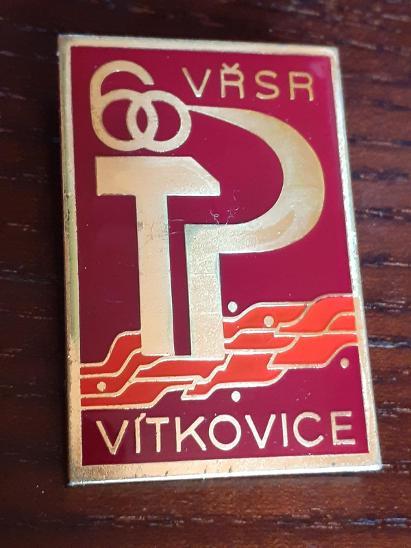 Odznak VŘSR VÍTKOVICE 60 let - Faleristika