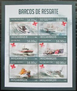 Mosambik 2013 Záchranářské lodě Mi# 6476-81 Kat 10€ 2425