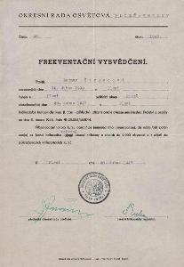 Frekventační vysvědčení_Plzeň_Štruncová Dagmar_Plzeň_1019