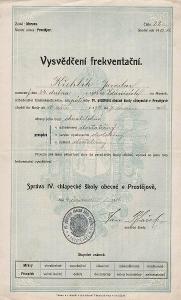 Frekventační vysvědčení_Prostějov_Křehlík Jaroslav_Ždánice_1100